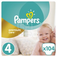 PAMPERS - PREMIUM CARE No4 (8-14kg) - 104 πάνες