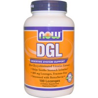 NOW DGL 400 MG  100 LOZENGES