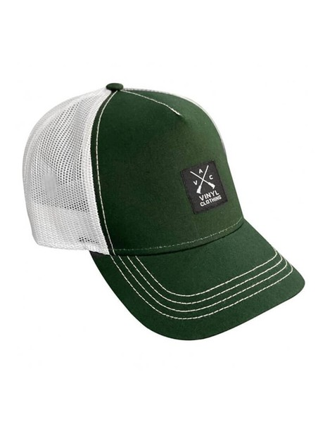 VINYL ART CLOTHING GREEN/WHITE RAPPER CAP