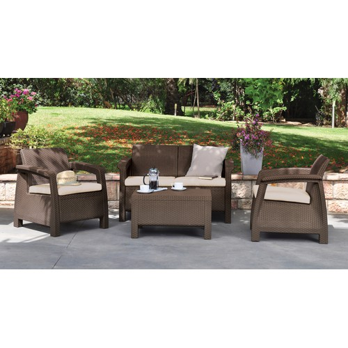 Corfu lounge set Brown