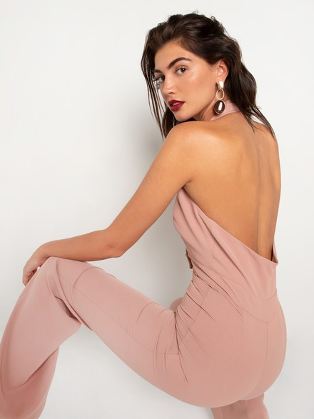 Low cut jumpsuit