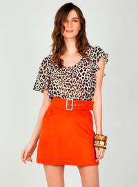 Leopard printed top
