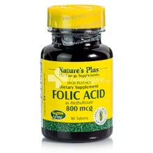 Natures Plus FOLIC ACID 800 mcg, 90 tabs