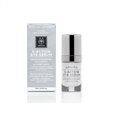 APIVITA 5 ACTION EYE SERUM ΜΕ ΛΕΥΚΟ ΚΡΙΝΟ* 15ML