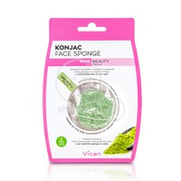 VICAN - KONJAC Face Sponge with Green Tea Powder - 1τεμ.
