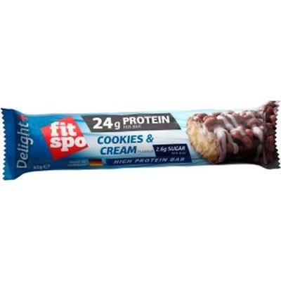 FIT SPO 24G PROTEIN PER BAR COOKIES & CREAM HIGH PROTEIN BAR 65G