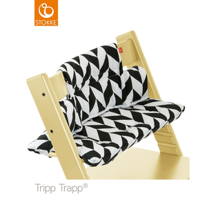 Μαξιλάρι Για TRIPP TRAPP Black Chevron