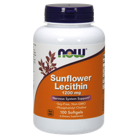 NOW SUNFLOWER LECITHIN 1200 MG, 100 SOFTGELS