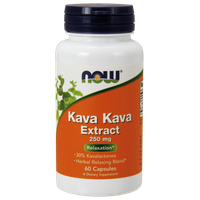 NOW KAVA KAVA EXTRACT 250 MG, 60 CAPS