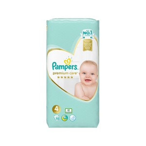 Pampers premium care no4 9-14kg 52τεμάχια
