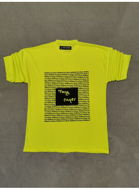 TONY COUPER LIGHT GREEN STAMP T-SHIRT