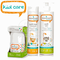 PHARMASEPT - PROMO PACK KID CARE Soft Hair Shampoo - 300ml, Soft Bath - 500ml, Extra Mild Deo Roll-On - 50ml