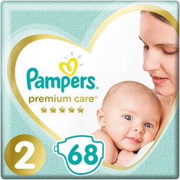 Pampers Premium Care No.2 (4-8kg) Πάνες, 68 τεμάχια