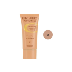 Coverderm Perfect Face SPF20 No 2 Αδιάβροχο Κρεμώδες Make Up 30ml