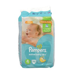 PAMPERS ACTIVE BABY DRY ΠΑΝΕΣ No4  8-14 kgr 13 ΤΜΧ