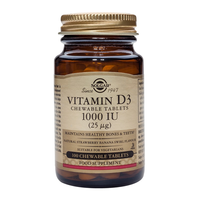 Vitamin D3 1000IU chewable tablets