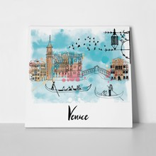 Watercolor vector background venice 431634085 a