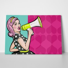Girl megaphone pop art 294275510 a