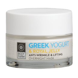 Bodyfarm Greek Yogurt Anti-Wrinkle & Lifting Overnight Mask -  Mάσκα νύχτας εντατικής φροντίδας 50ml