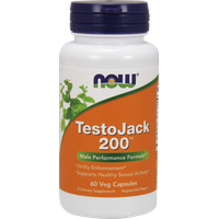 NOW TESTO JACK 200(TM)  EXTRA STRENGTH  60 VCAPS