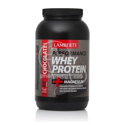 LAMBERTS - PERFORMANCE Whey Protein + Magnesium Chocolate Flavour - 1kgr