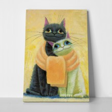 Two cats painting 447587938 a