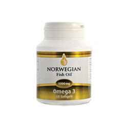 Norwegian Fish Oil Omega -3 1000mg 60 softgels
