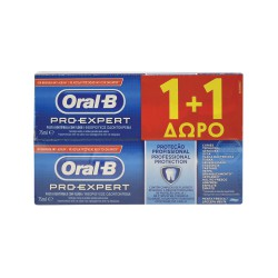 ORAL B ΟΔΟΝΤΟΚΡΕΜΑ PRO EXPERT PROF PROTECTION 75+75 ml 1+1 ΔΩΡΟ