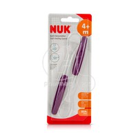 NUK - Soft Feeding Spoon 4m+ (Μωβ) - 2τεμ.