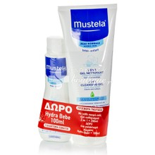 Mustela Σετ 2 in 1 Cleansing Gel 200ml & Δώρο Hydra Bebe Body Lotion 100ml