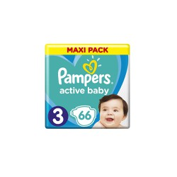 Pampers Active Baby Diapers Size 3 (6-10kg) 66 Diapers