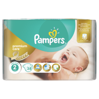 PAMPERS PREMIUM CARE NEW BABY 2 3-6KG 38TEM