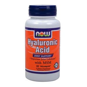 Now hyaluronic acid with msm   60 vcaps