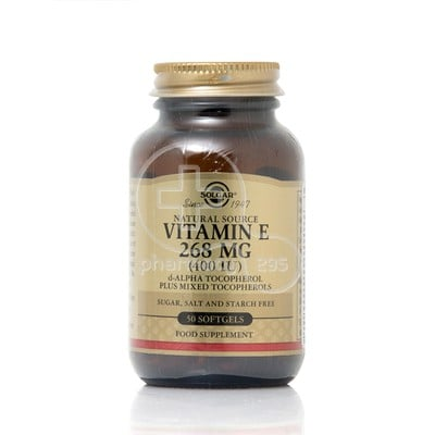 SOLGAR - Vitamin E 268mg (400IU) - 50softgels