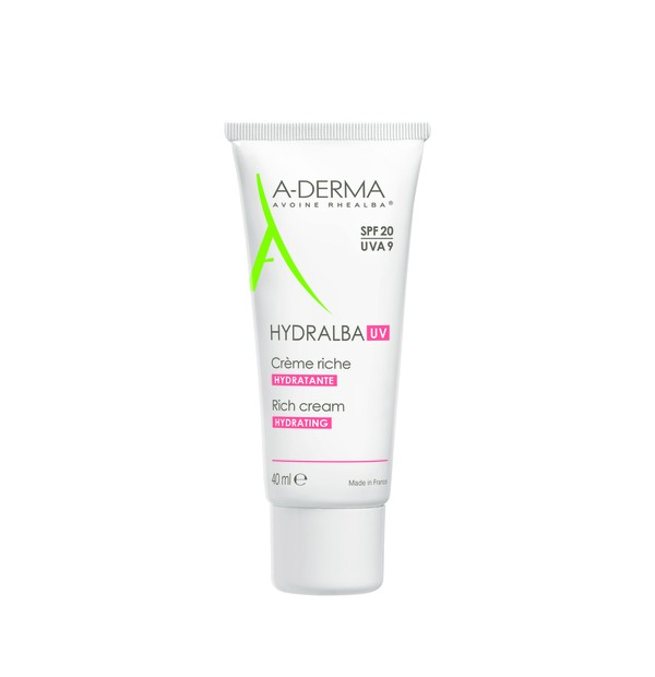 ADERMA HYDRALBA UV CREME RICHE SPF20 40ML