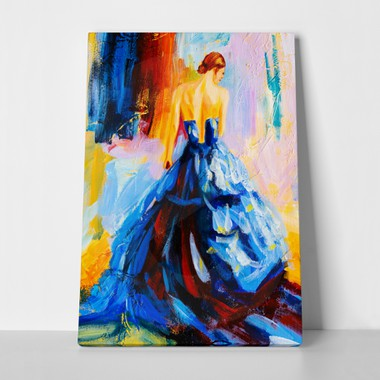 Oil painting spanish dancer a