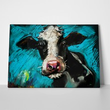 Original pastel painting cow 281993564 a