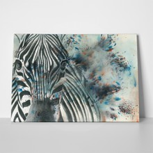 Zebra abstract painting 439253404 a