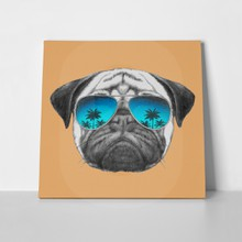 Portrait pug dog mirror 281310047 a