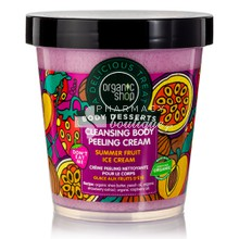 Organic Shop Body Desserts Body Peeling Cream Summer Fruit Ice Cream Cleansing - Καθαριστικό Peeling Σώματος, 450ml