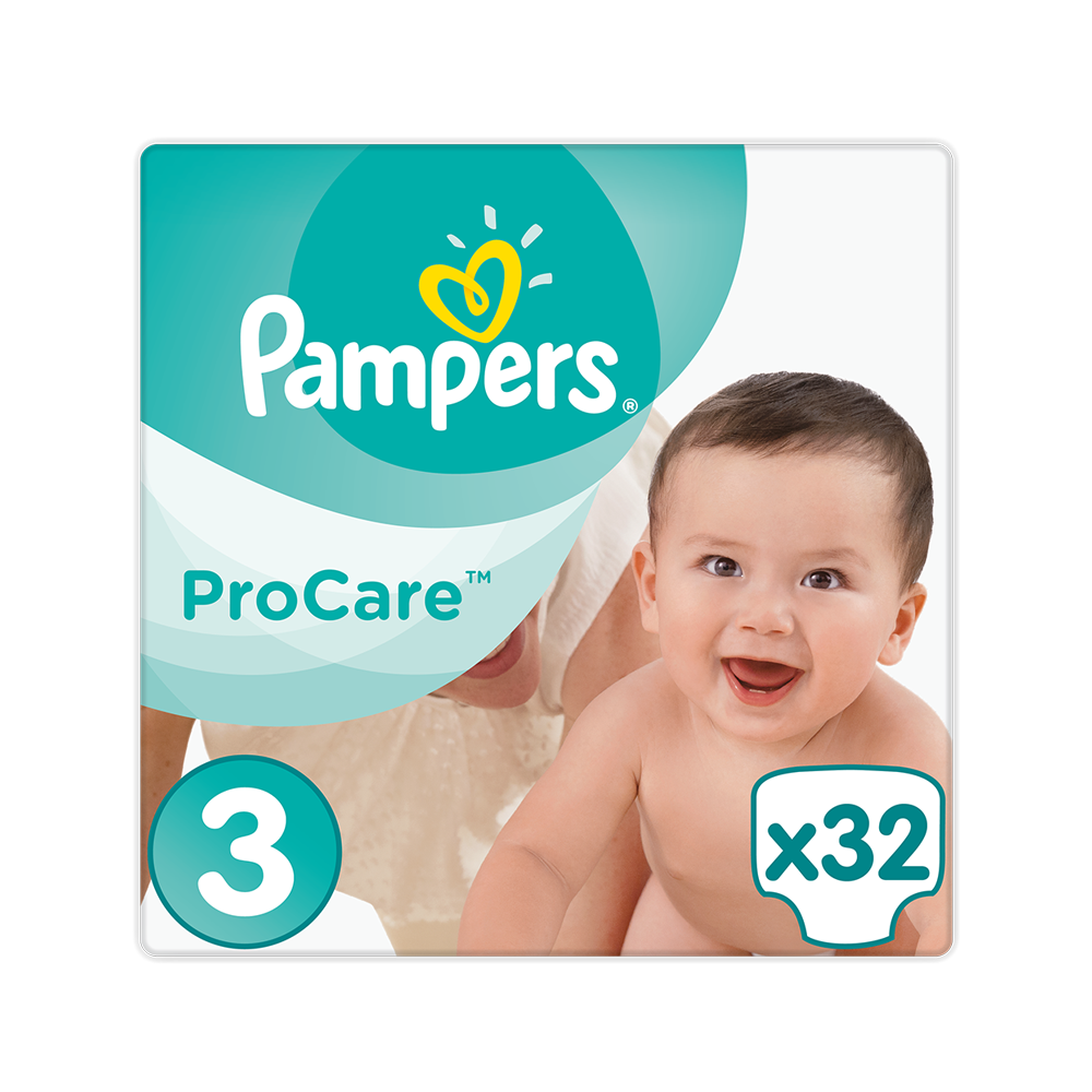 132029 pampers   procare premium protection no3  5 9kg    32