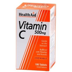 Health Aid Vitamin C 500mg Chewable 100 Tablets
