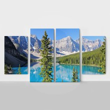 4panel mountain lake
