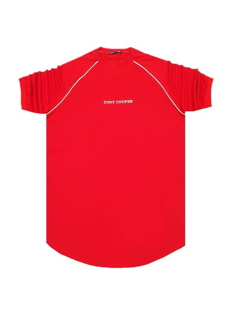 TONY COUPER RED STRIPES T-SHIRT