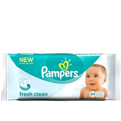 Pampers Fresh Clean Baby Wipes Μωρομάντηλα 64 Τεμάχια