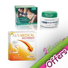 XLS Medical Max Strength Αδυνατιστική Αγωγή 1ος Μήνα 120Caps +Somatoline Cosmetic Intensive 7 Nights Slimming Treatment 400ml. Σετ προϊόντων για αδυνάτισμα σε προνομιακή τιμή.