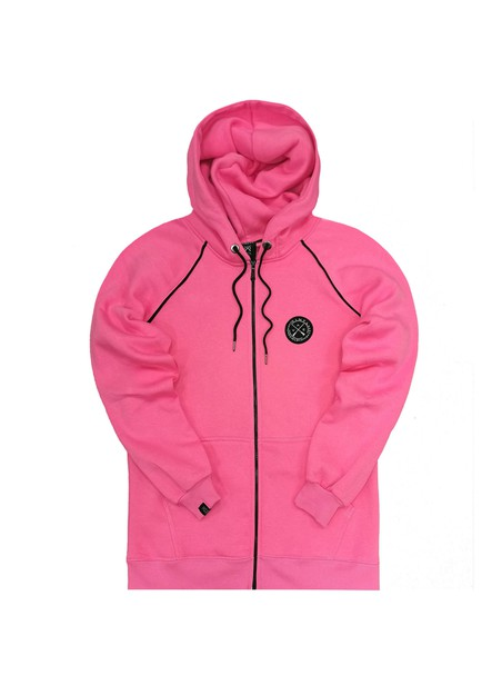 VINYL ART CLOTHING PINK BASIC JACKET WITH COLORED STRIPED DETAILS