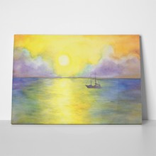 Abstract landscape yacht ocean view sea 1093755260 a