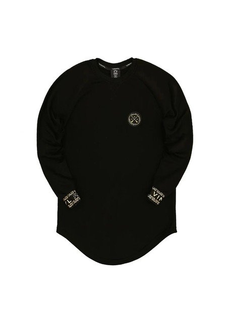 VINYL ART CLOTHING BLACK SWEATSHIRTS WITH GOLD LOGO DETAILS