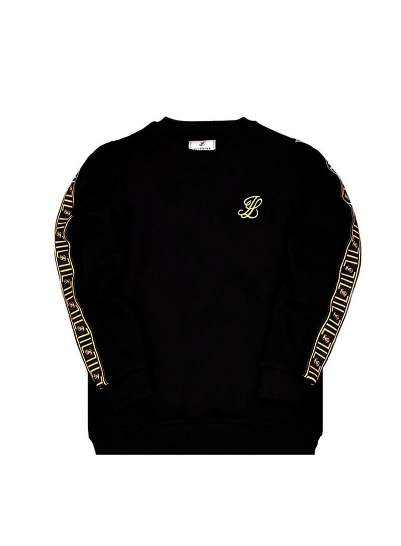 Illusive London Taped Crew Sweat - Black